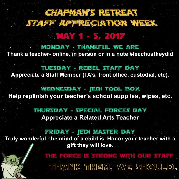 Star Wars TAW Gift Schedule