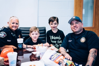 Silent Auction Lunches with Fire & Police-5