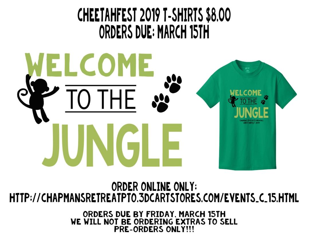shirt order flyer pr
