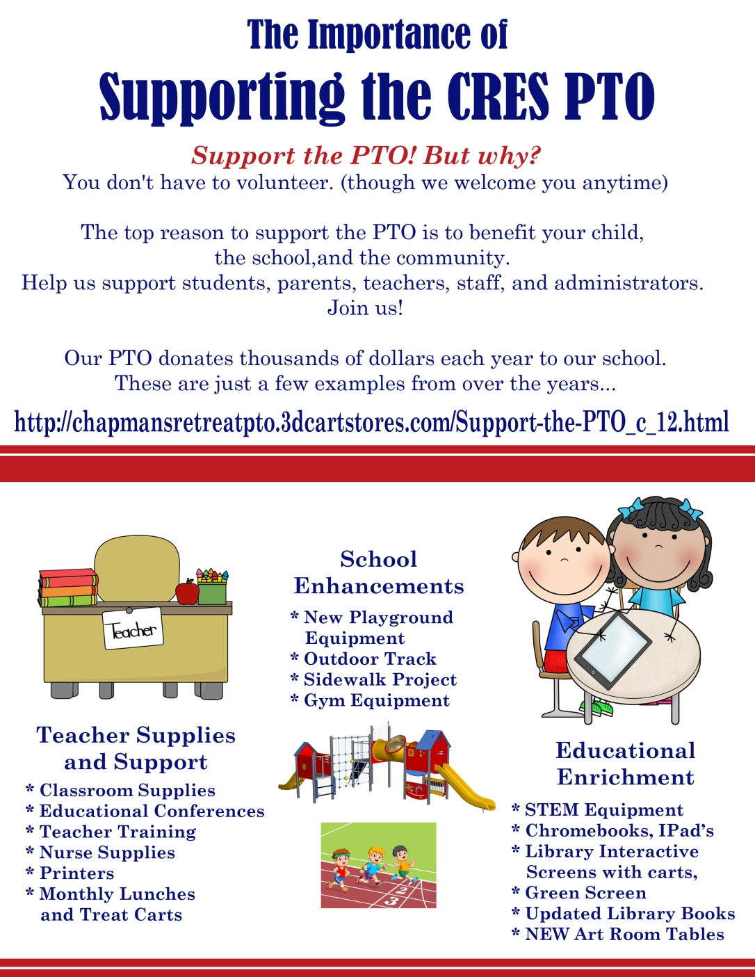 Support the PTO copy